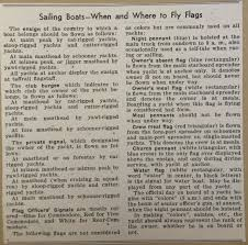 when and where to fly flags for sail boats 1932 the santa