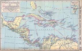 American Route Map by Map Of Central America 1492 1525