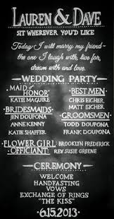 chalkboard wedding program template 7 pretty wedding program ideas wedding programs