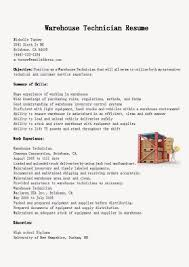 Resume Sample Warehouse by Underwriting Technician Cover Letter