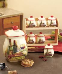 the kitchen collection llc vineyard kitchen collection wine lovers canisters more sm305005