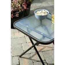 side table round metal patio side table silver madras drum patio
