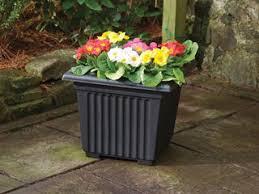 stewart corinthian square planter 40 cm black amazon co uk