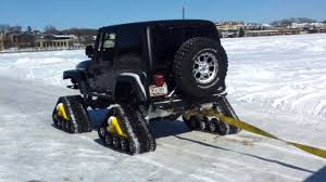 jeep tank for sale jeep rubicon with tracks in snow youtube