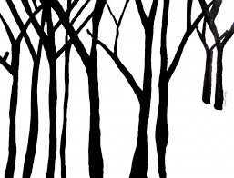 simple black and white tree drawing clipart panda free clipart