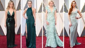 oscars 2016 red carpet trends pastels strapless green dresses