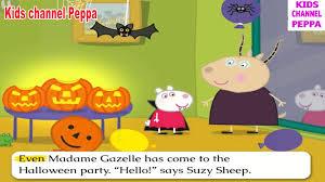 halloween pumpkins cartoons peppa pig peppa pig u0027s halloween pumpkin party video for kids peppa