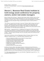 the steven l newman real estate institute nrei baruch college
