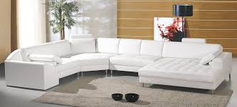 Modern White Bonded Leather Sectional Sofa Top White Leather Sofa With Chaise With Modern White Bonded