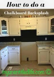 chalkboard kitchen backsplash 30 trendiest kitchen backsplash materials chalkboard paint