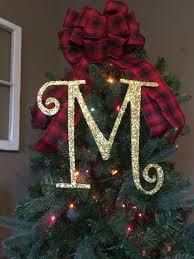 decorative 12 gold monogram christmas tree topper