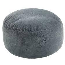 extra large grey faux fur bean bag pod luxury gaming chair fur