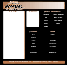 avatar lok character template by isi a on deviantart
