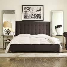 grey upholstered platform bed baxton studio penelope modern and