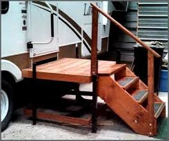 portable adjustable camper u0026 rv deck u0026 steps ptci classifieds