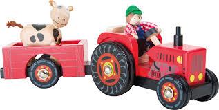 tracteur en bois tracteur avec remorque ferme