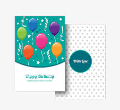 hand drawn birthday card with balloons balloon hand painted