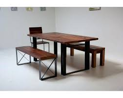 Wood Bench With Metal Legs Dining Table Renew Reclaimed Wood Dining Table Designs Recycled