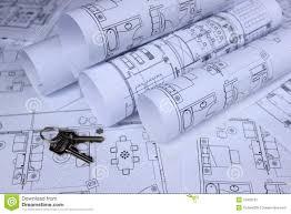 keys on home blueprint stock photography image 33890472