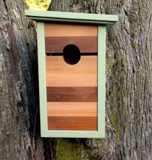 modern style of birdhouse design ideas using minimalist shape of