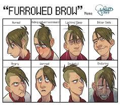 furrowed brow meme by galoogamelady on deviantart