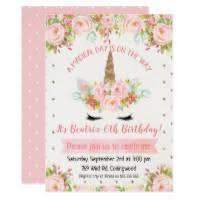 birthday invitations rlv zcache unicorn birthday invitation r