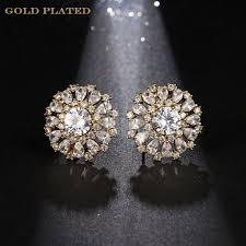 big stud earrings new silver color big luxurious stud earrings high qualityaaa