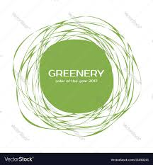 greenery color of the year 2017 frame royalty free vector