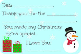 christmas thank you cards fill in the blank christmas thank you cards free printable