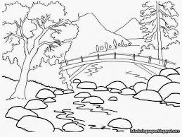 scenery drawing for colouring drawing of sketch