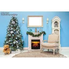 chambre photographie horizontal vinyl impression de luxe décoration de noël bleu mur