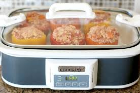 crock pot stuffed peppers the country cook