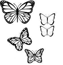 royalty free vector simple outlines butterflies pictures of black