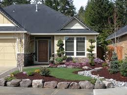 Home Landscaping Ideas by Small Front Yard Landscaping Ideas Wooden Chair Landscape Design