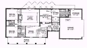 Floor Plans Ranch Homes by 1 Story Home Plans With Open Floor Plan House Concept