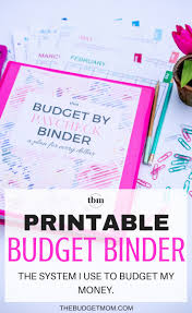 Template For Budgeting Money Our 2017 Budget Binder A Plan For Every Dollar The Budget Mom