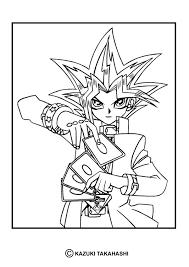 yu gi coloring manga coloring sheets hellokids