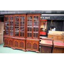 Break Front Bookcase Old Edwardian 6 Doors Break Front Bookcase London Gallery