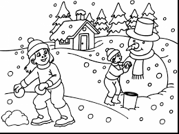 good winter landscape coloring pages winter coloring