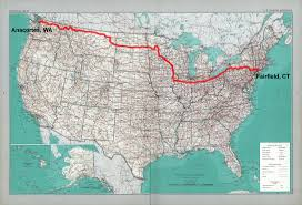 Road Trip Map The Roadtrip Across America San Francisco To Boston Cavan Maps
