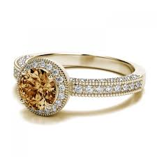 vintage citrine engagement ring in 18k yellow gold