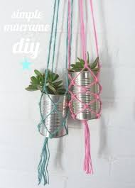 Simple Macrame Plant Hanger - beachcomber diy macram礬 plant hanger handmade