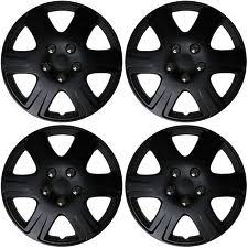 toyota corolla 15 inch rims 4 pc universal hubcaps black matte 15 inch wheel cover hub caps