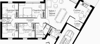 plan maison en l 4 chambres 48 luxe plan de maison plain pied 4 chambres avec garage 55257 les