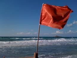 Beach Red Flag Bandiera Rossa Italian Lifeguards Expose A Red Flag On The U2026 Flickr