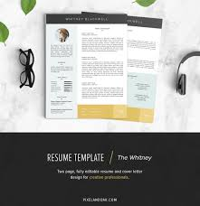 resume u0026 cover letter template the whitney on behance