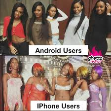 I Phone Meme - android vs iphone ghetto red hot