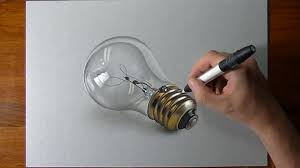 how to draw a realistic lightbulb 2 youtube