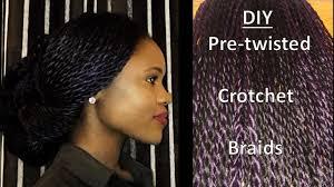 how to pretwist hair diy pre twisted crotchet twist making installation youtube