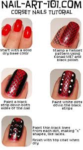 corset nail art tutorial http www nail art 101 com